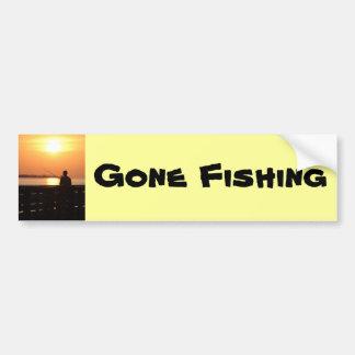 Gegangene Fischerei, Mannfischen im Autoaufkleber