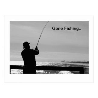Gegangene Fischerei Postkarte