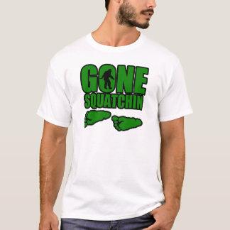 Gegangene Squatchin grüne Abdrücke T-Shirt