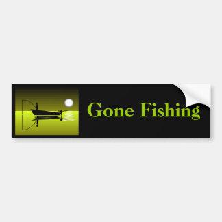Gegangener fischenAutoaufkleber Autoaufkleber