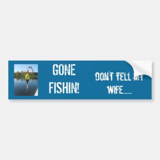 Gegangenes Fishin! Autoaufkleber