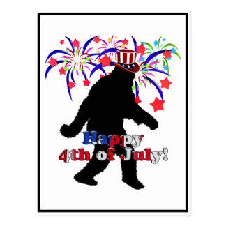 Gegangenes Squatchin für Juli 4. (Text u. Postkarte