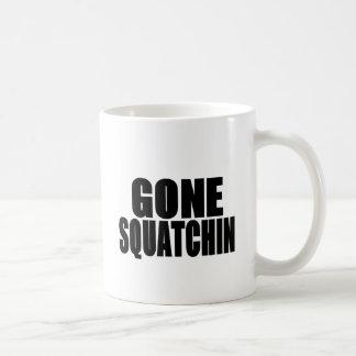 Gegangenes Squatchin schwarzes Logo Kaffeetasse
