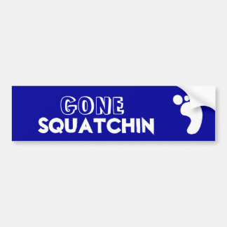 Gegangenes Squatchin Schwarzweiss-Logo Autoaufkleber