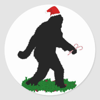 Gegangenes Weihnachten, gegangenes Squatchin Runder Aufkleber