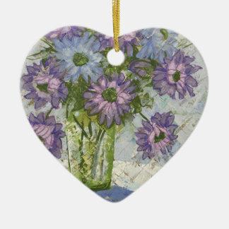 Gegeben als Geschenk Keramik Herz-Ornament
