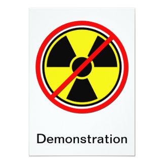 Gegen AtomPower! 12,7 X 17,8 Cm Einladungskarte