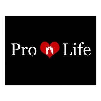 Gegen die Abtreibung Herz-und Baby-Füße Postkarte