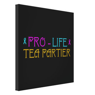Gegen die Abtreibung Tee Partier Leinwanddruck