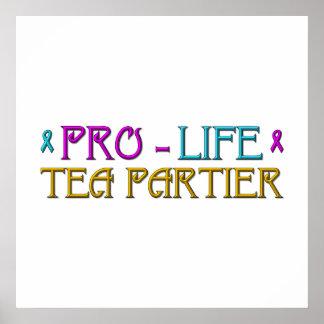 Gegen die Abtreibung Tee Partier Poster
