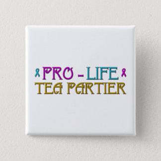 Gegen die Abtreibung Tee Partier Quadratischer Button 5,1 Cm