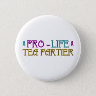 Gegen die Abtreibung Tee Partier Runder Button 5,1 Cm
