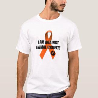 Gegen Tiergrausamkeits-orange Bewusstseins-Band T-Shirt