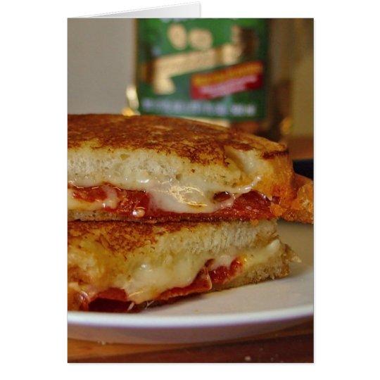 Gegrillte Käse-Sandwiche Grußkarte