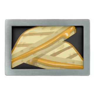 Gegrillter Käse des Störschubs Nahrung Rechteckige Gürtelschnallen