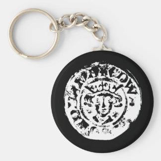 Gehämmerter Münzenschlüsselring, Metall, das Schlüsselanhänger