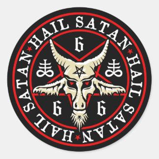 Geheimnisvolle Hagel Satan Baphomet Ziege im Runder Aufkleber