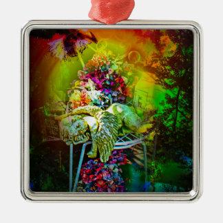 Geheimnisvolle Welt 3 Silbernes Ornament