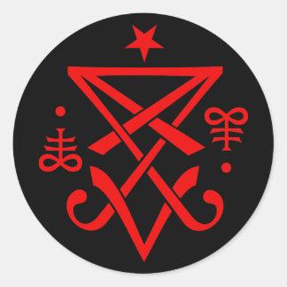 Geheimnisvolles Sigil von Lucifer satanisch Runder Aufkleber