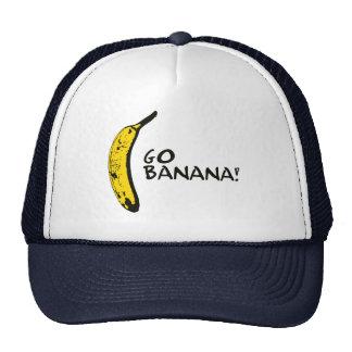 Gehen Banane! Fernlastfahrer-Hut Baseballmütze