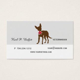 Gehen die Hundetierische tierärztliche Verabredung Visitenkarte