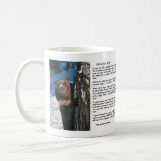 Gehen, ein Bär zu sein Kaffeetasse