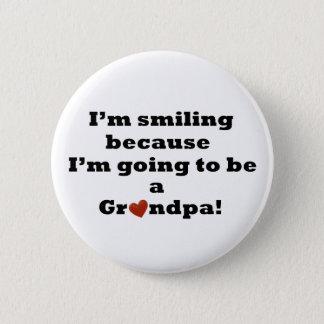 Gehen, ein Großvater-Knopf zu sein Runder Button 5,7 Cm