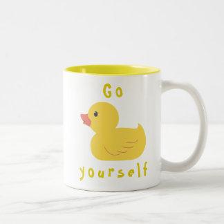 Gehen Ente sich Zweifarbige Tasse