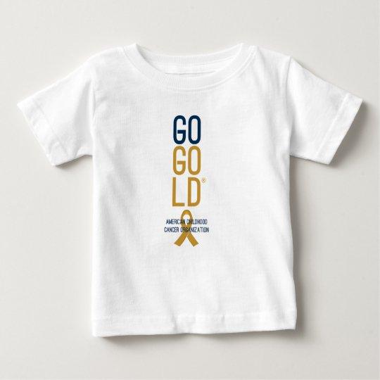 Gehen Gold® Aufschriftbeleuchtungs-Shirt für Baby T-shirt