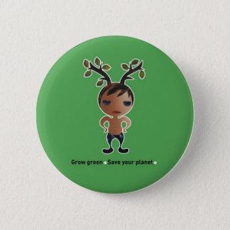Gehen Grün für den Planeten! Runder Button 5,7 Cm