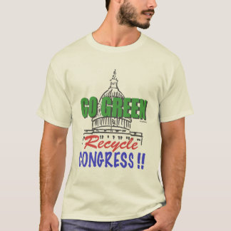 GEHEN GRÜN recyceln Kongress-T - Shirt