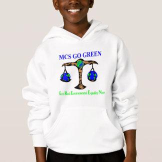 Gehen KinderSweatshirt grünes Hoodie