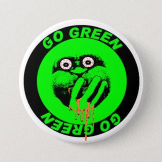 Gehen Knopf grüner Runder Button 7,6 Cm