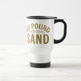 Gehen Pfund-Sand Reisebecher