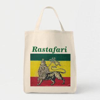 Gehen Rastafari grünes Einkaufstasche