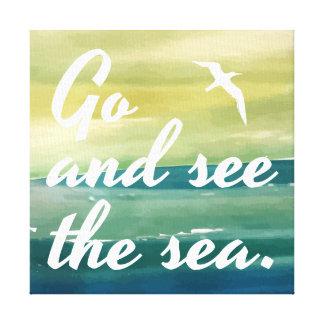 Gehen Sie den Leinwand-Druck des Meer  sehen Leinwanddruck