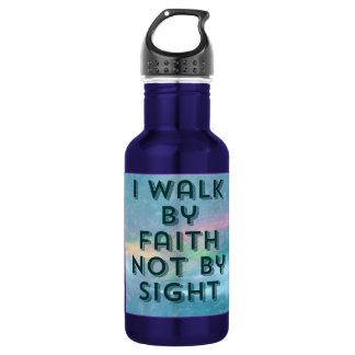 Gehen Sie durch Glauben nicht durch Edelstahlflasche