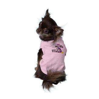 Gehen Sie erhalten sie, Yinz lila Ärmelfreies Hunde-Shirt