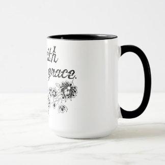 gehen Sie mit der AnmutblumenTasse Tasse