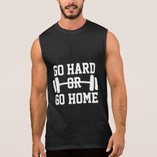 Gehen Sie stark oder gehen Sie Ärmelloses Shirt