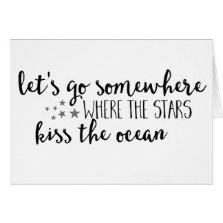 Gehen Sie, wohin die Sterne die Karte