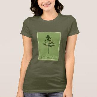 Gehen White Pine grünes T-Shirt