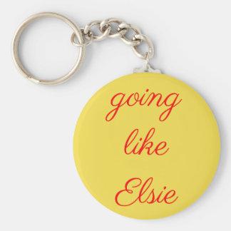 Gehen wie Elsie keychain Schlüsselanhänger