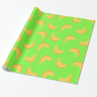 Gehende Bananen im Grün Geschenkpapier