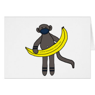 Gehende Bananen über Ihnen Karte