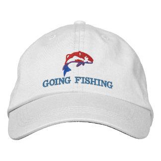 Gehende fischenfishermans bestickte kappe