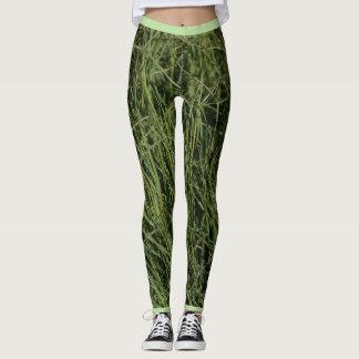 Gehende grüne Natur-Balancen-Gras-Gamaschen Leggings