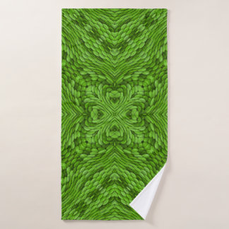 Gehende grüne Vintage Kaleidoskop-Bad-Tücher Badehandtuch