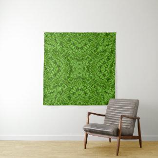 Gehende grüne Vintage Kaleidoskop-Wand-Tapisserie Wandteppich