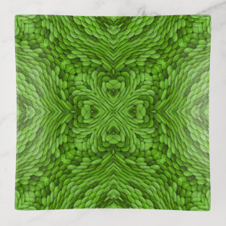 Gehende grüne Vintage Kaleidoskoptrinket-Behälter Dekoschale